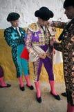 Получать Bullfighters одел для paseillo или начального парада Стоковое Изображение RF