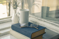 Получающ образование - дорогу к знанию Книги чтения - th Стоковая Фотография RF