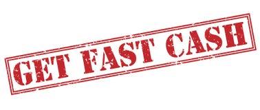 Получите быстрым наличным деньгам красный штемпель Стоковые Фотографии RF