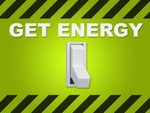 Получите концепцию энергии Стоковое Фото
