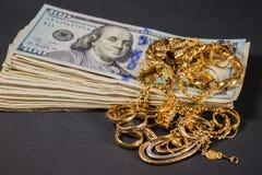 Получите наличными на золото 005 Стоковое Изображение RF