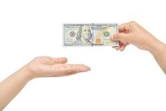 Получите 100 долларов Стоковые Фотографии RF