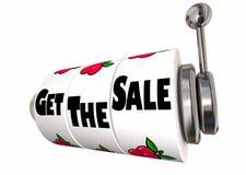 Получите продажу продавая торговый автомат клиента успеха Стоковое Изображение RF