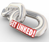 Получите соединенному 3d красными сеть слова соединенную звеньями цепи Стоковое фото RF