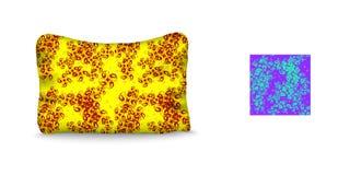 Подушка и безшовная картина Стоковая Фотография