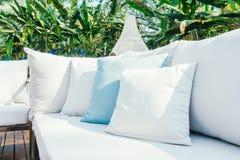 Подушка на софе Стоковая Фотография