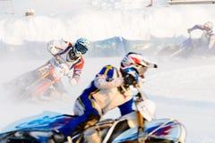 Полу-выпускные экзамены русского чемпионата в Уфе на скоростной дороге лед в декабре 2016 Стоковое Изображение RF