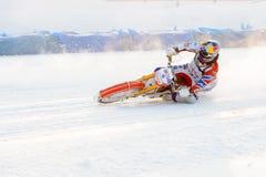Полу-выпускные экзамены русского чемпионата в Уфе на скоростной дороге лед в декабре 2016 Стоковая Фотография