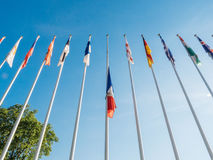 Полу-рангоут флага Франции после того как нападения Великобритании в Манчестере, Лондоне Стоковая Фотография
