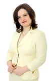 Полу--lenght молодая женщина в стойках светлых куртки Стоковые Фото