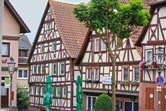 Полу-timbered здания в Германии Стоковое Фото