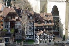 Полу-timbered дома в Bern Стоковое Изображение RF