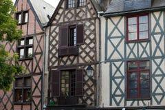 Полу-timbered дом в путешествиях, стоковое фото rf