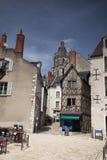 Полу-timbered дом в путешествиях Amboise, долине Луары, Франции Стоковые Изображения RF