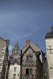 Полу-timbered дом в путешествиях Amboise, долине Луары, Франции Стоковая Фотография RF