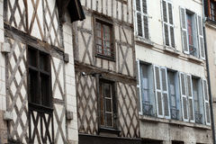 Полу-timbered дом в Blois стоковое фото rf