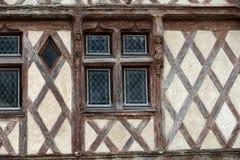 Полу-timbered дом в Chinon стоковое изображение