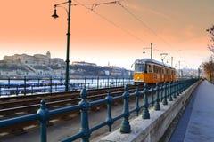 Подход к трамвая Будапешта Стоковое Фото
