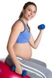 подходящая беременная женщина Стоковое Изображение RF