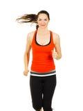 Подходящая женщина jogging Стоковое Изображение