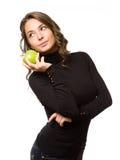 Подходящая красотка яблока. Стоковые Изображения