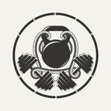 Подходящая эмблема Иллюстрация вектора