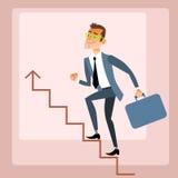 Подъемы бизнесмена растя план-график Стоковые Фотографии RF