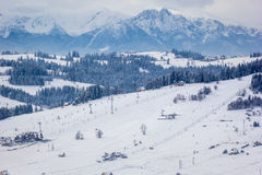 Подъемы лыжи Стоковые Изображения RF