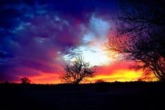 Подъем захода солнца Стоковые Изображения