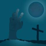 Подъем зомби - голубой вариант Стоковое Фото