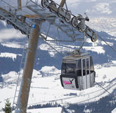Подъем кабины на гору Стоковое Изображение RF