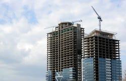 подъем конструкции здания высокий вниз Стоковое фото RF