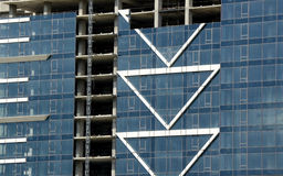 подъем конструкции здания высокий вниз Стоковое Изображение RF