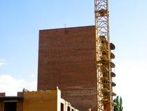 подъем конструкции здания высокий вниз Стоковые Изображения RF