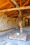 Подъем монастыря Meteora стоковое фото