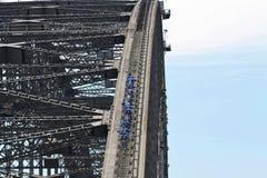 Подъем моста гавани Сиднея Стоковая Фотография