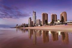 Подъем пляжа SP QE отражает Стоковые Изображения