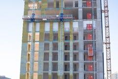 Подъем рабочей платформы и конструкции Стоковая Фотография
