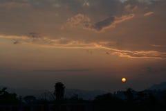 Подъем солнца утра в itanagar, Arunachal Pradesh Стоковые Изображения
