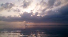 Подъем Солнця в северное побережье Кению Стоковое Изображение RF