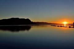 Подъем Солнця запруды Hartebeespoort стоковая фотография