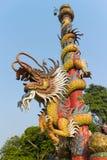 Подъем статуи дракона поляк Стоковые Фотографии RF