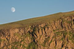 Подъем луны Стоковые Изображения