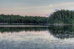 Подъем луны Muskoka Стоковое Фото