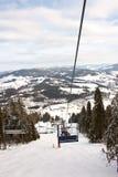 Подъем лыжи в горы Стоковая Фотография RF