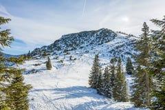 Подъем лыжи в горы Стоковое Фото