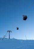 Подъем лыжи в back-light Стоковое Изображение RF