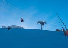 Подъем лыжи в back-light Стоковое Фото