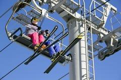 Подъем лыжи в Yong Pyong Корею Стоковое Изображение