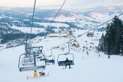 Подъем лыжи гор Стоковая Фотография